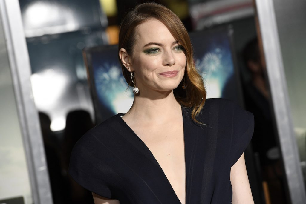 Emma Stone attends the 'Zombieland Double Tap' Sony Pictures premiere at Regency Village Theatre on October 10, 2019, in Westwood, California.