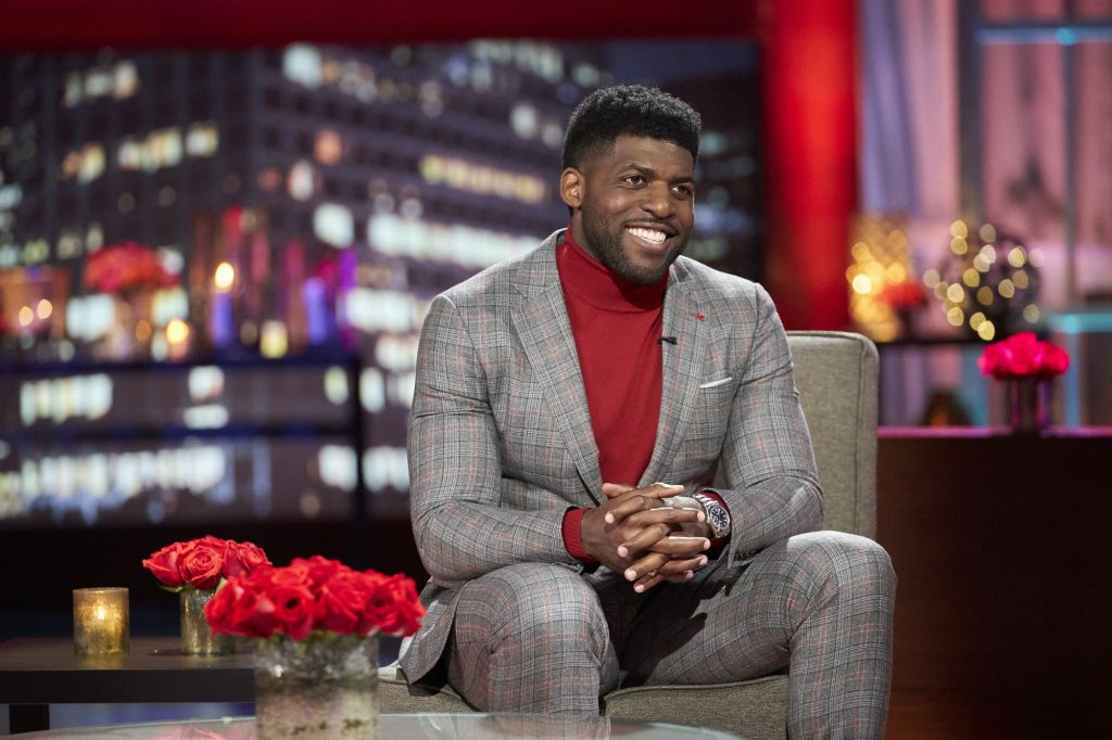 Emmanuel Acho hosting 'After the Final Rose' following the Season 25 finale of 'The Bachelor'