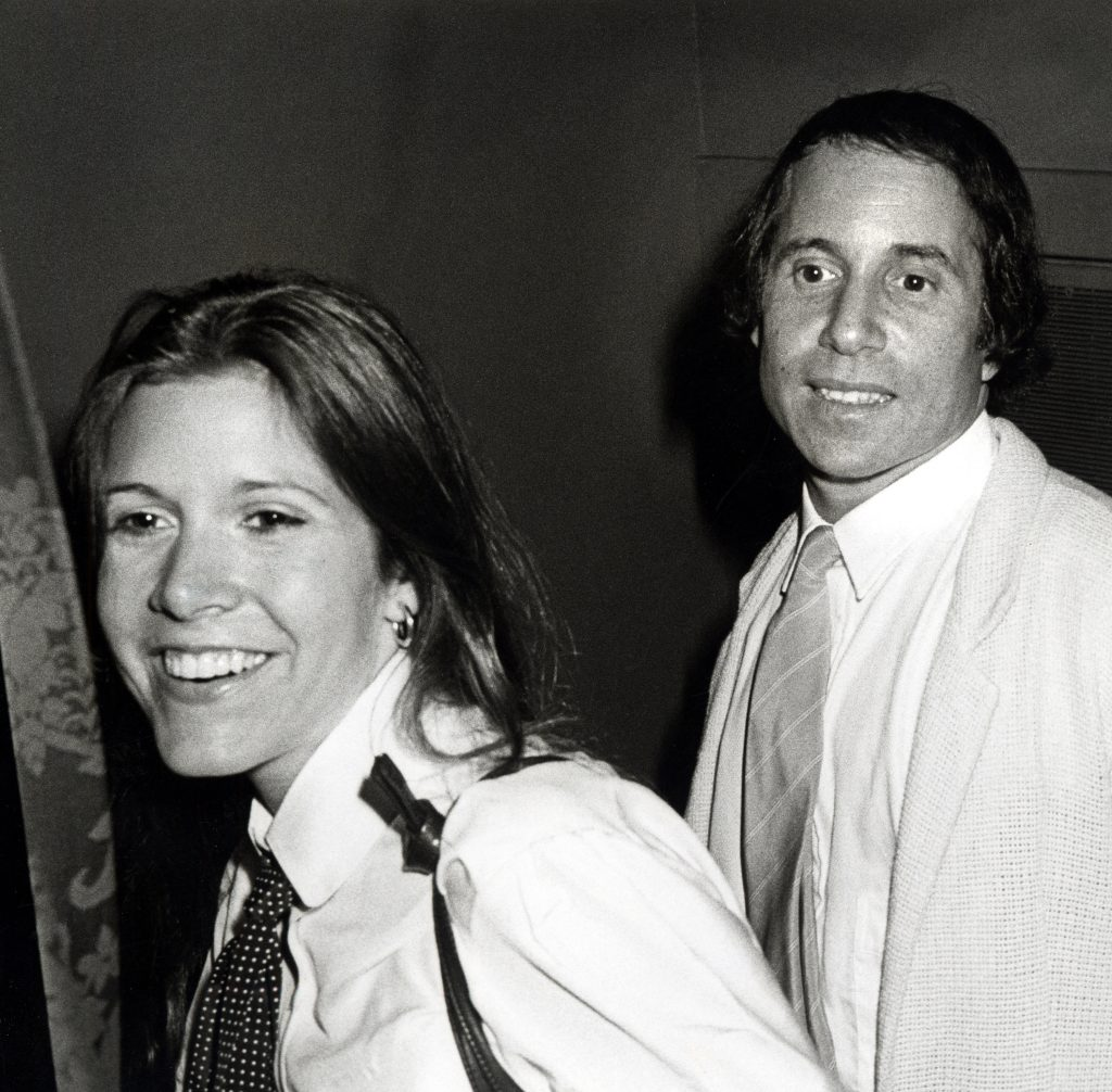 Carrie Fisher and Paul Simon in 1979