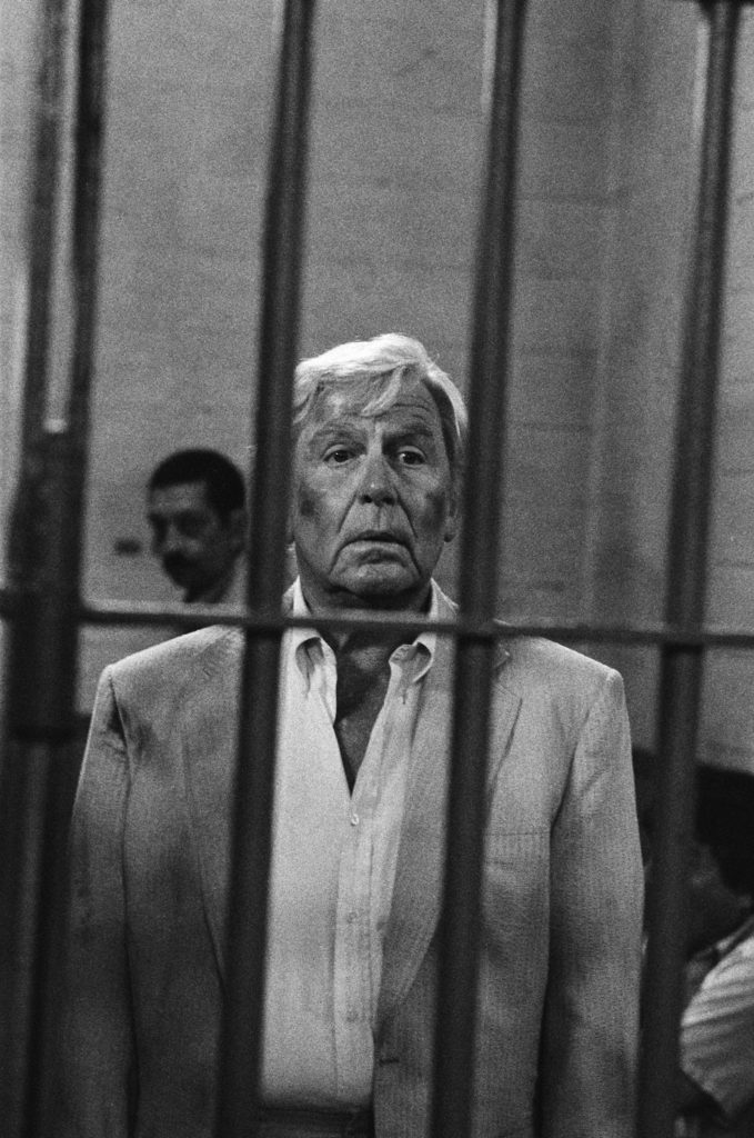 Andy Griffith as Ben Matlock in jail on 'Matlock'