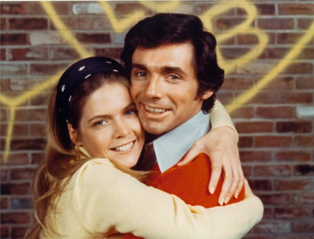 Meredith Baxter, left, with David Birney in 1972