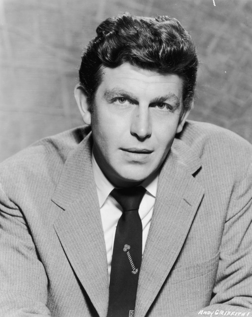 Promotional headshot portrait of actor Andy Griffith in 1958