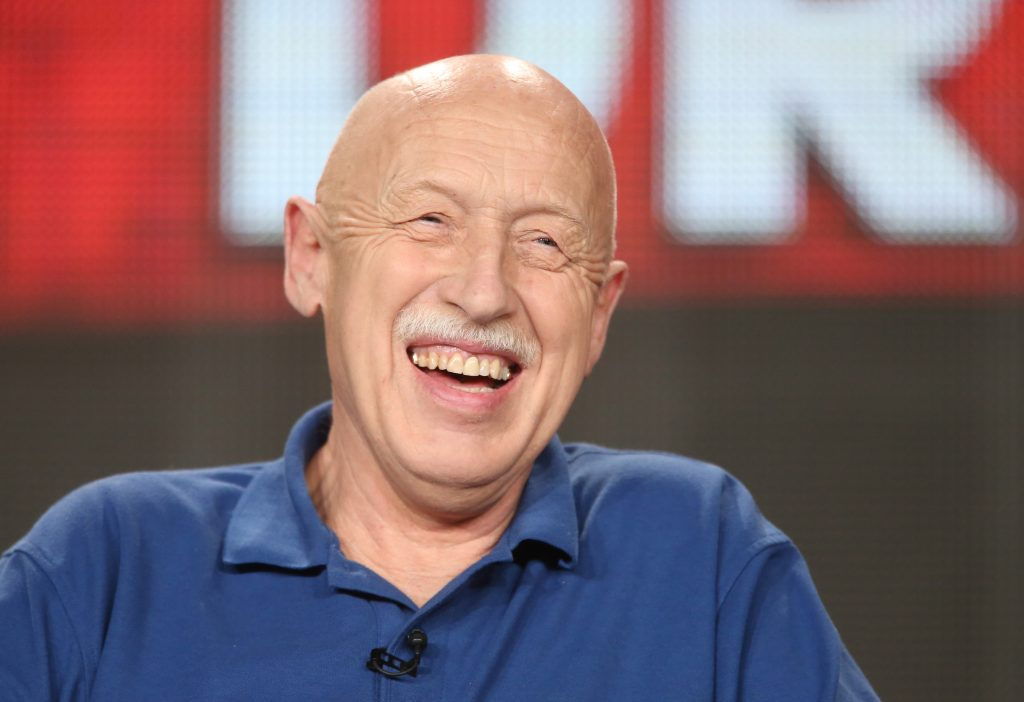 'The Incredible Dr. Pol' star Dr. Jan Pol is shown laughing during a publicity event