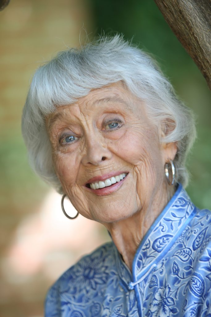 Actor Betty Garrett smiles for a photo in celebration of her 90th birthday
