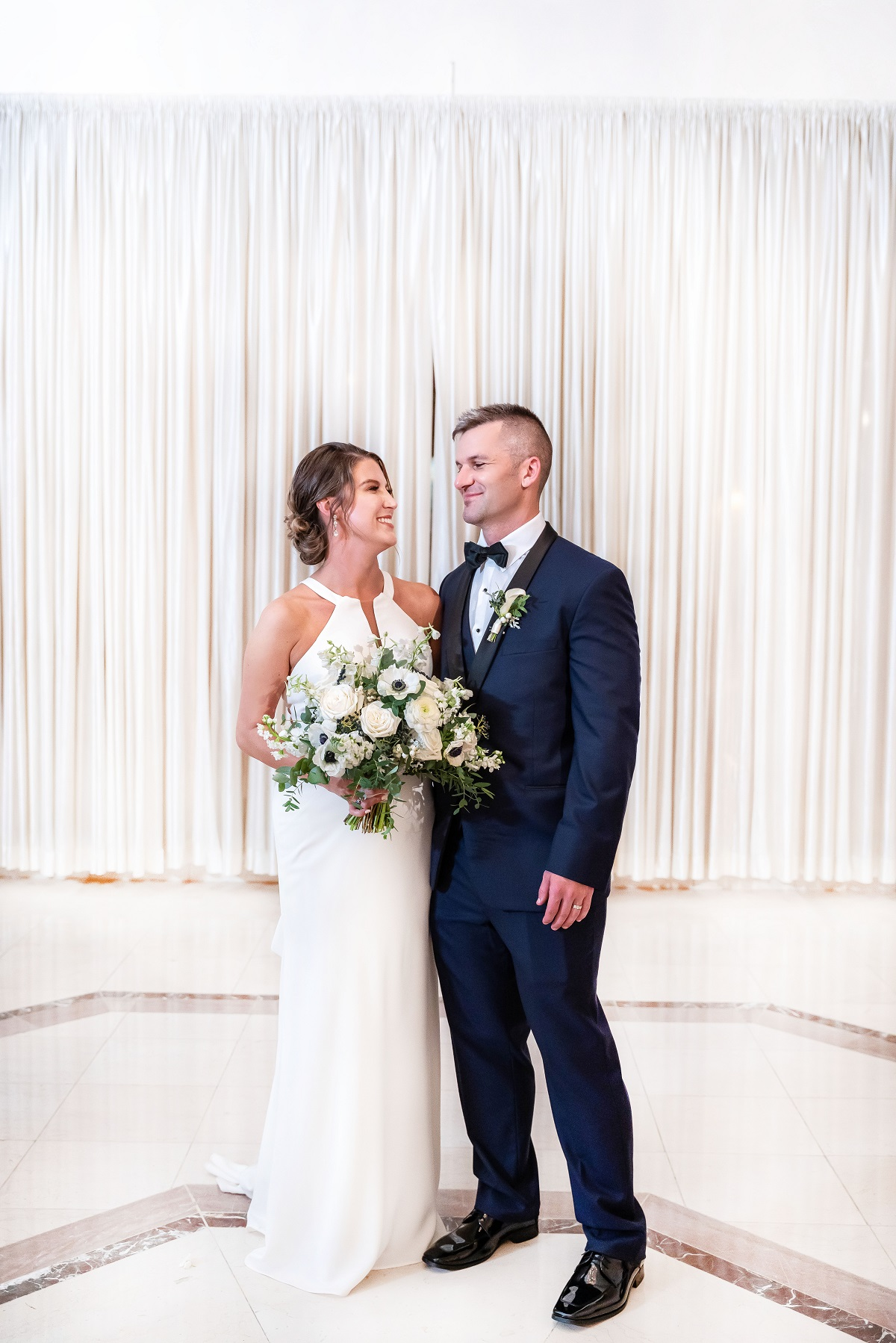 Haley Harris and Jacob Harder posing for a formal photo on their wedding day on 'Married at First Sight'