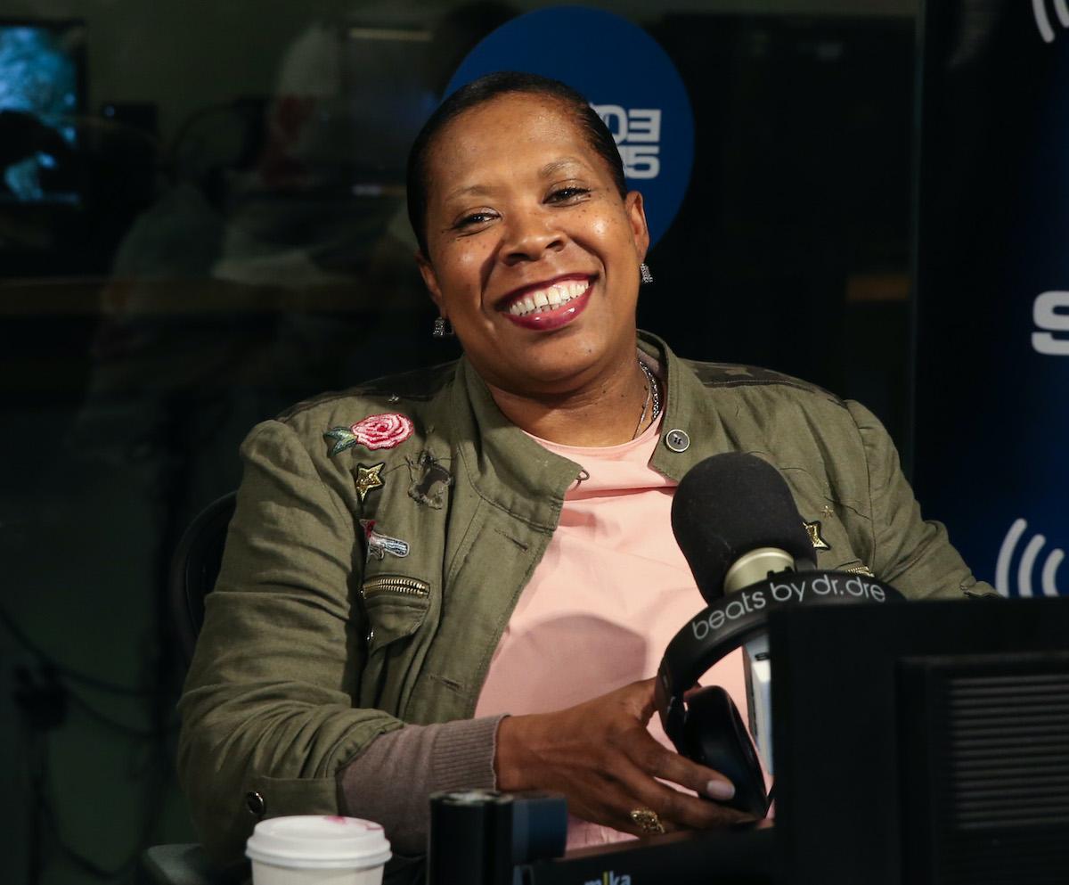 Heather B. Gardner, aka Heather B appears on set of 'Sway in the Morning' at SiriusXM Studios