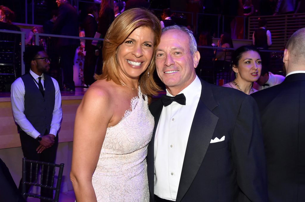 Hoda Kotb of the 'Today Show' and Joel Schiffman attend the 2018 TIME 100 Gala at Jazz at Lincoln Center on April 24, 2018 in New York City