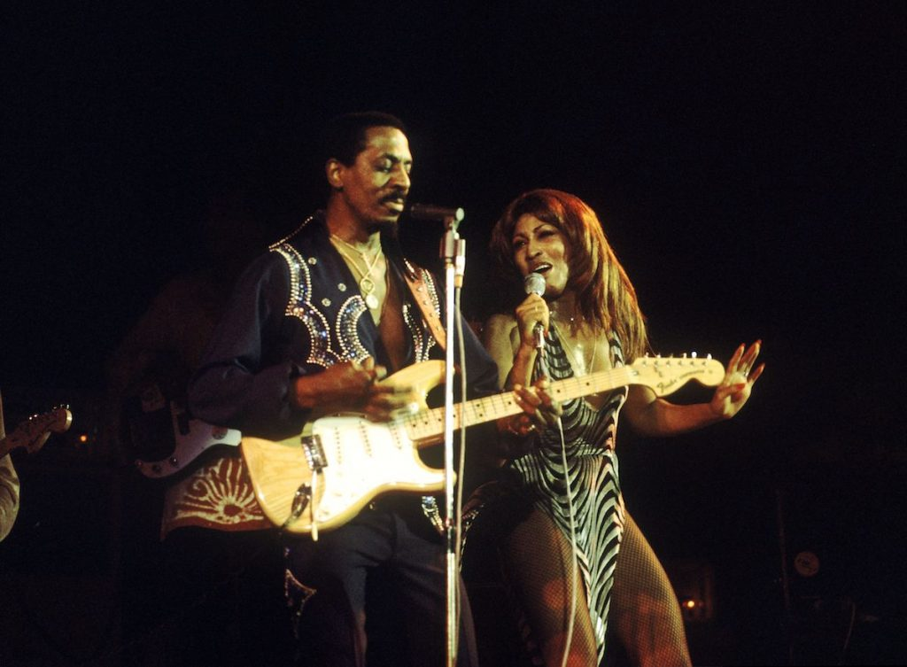Ike & Tina Turner Revue perform live on stage at the Hammersmith Odeon in London on 24th October 1975