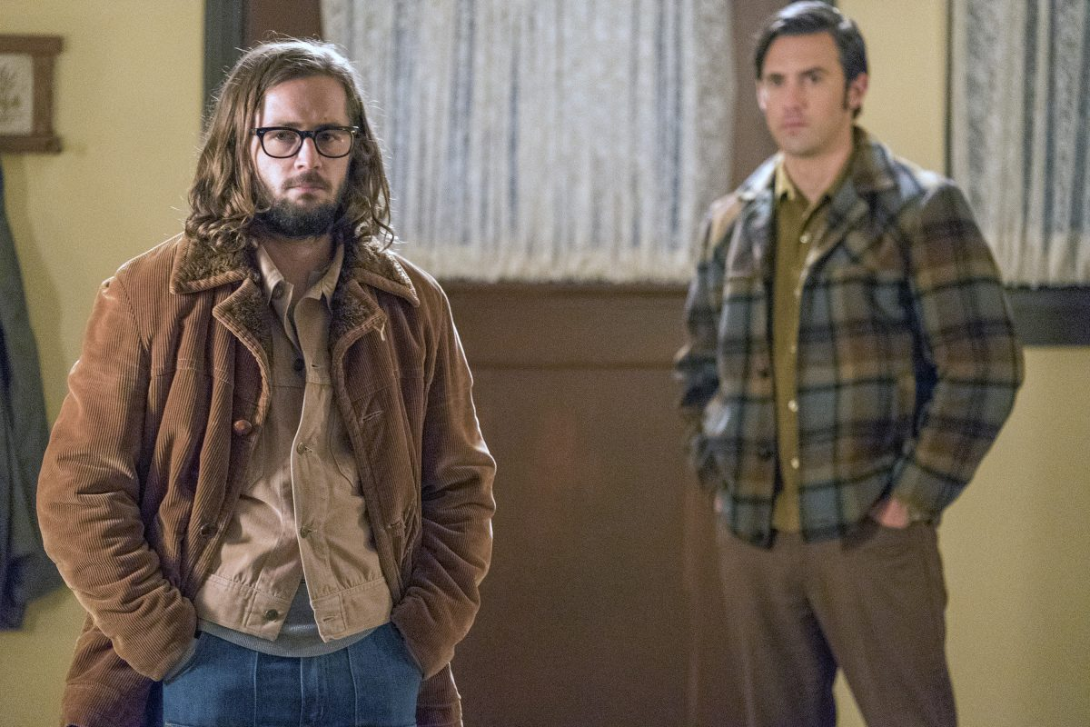 Milo Ventimiglia as Jack Pearson and Michael Angarano as Nicky Pearson on This Is Us