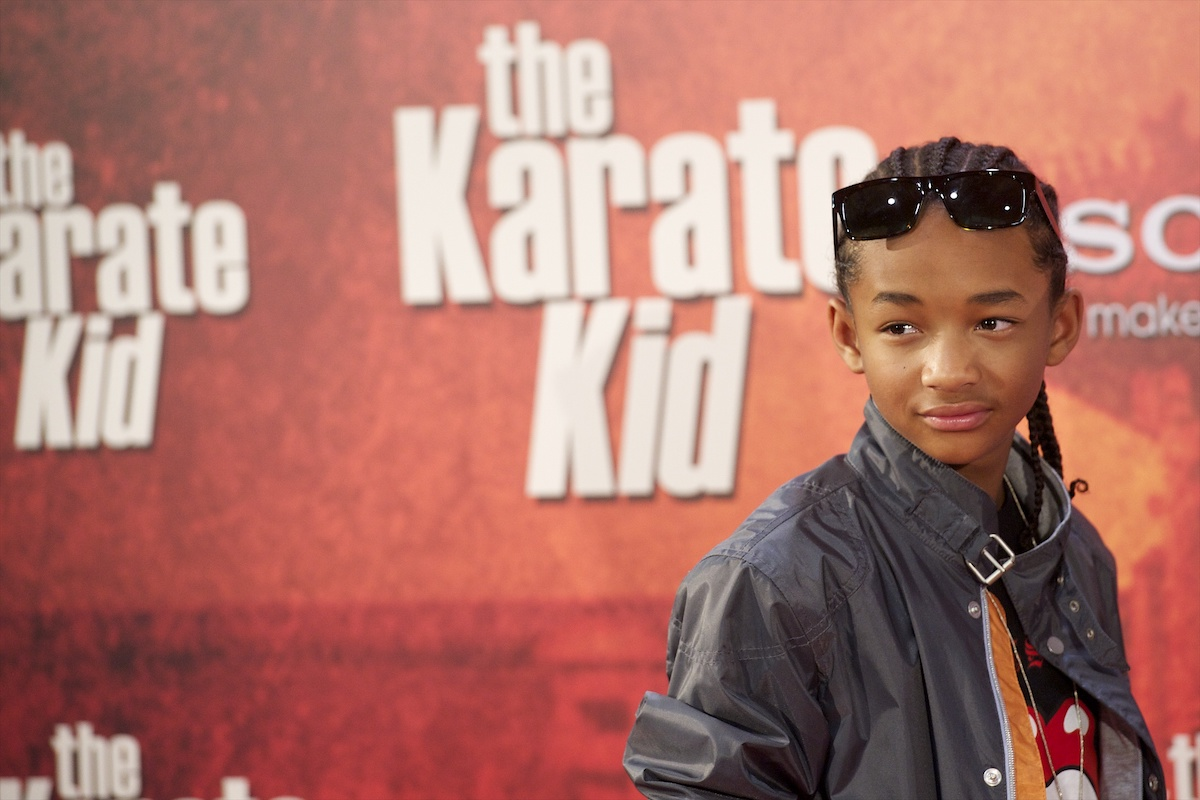 Jaden Smith at a red carpet event for 'The Karate Kid'