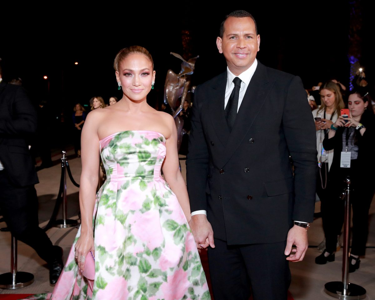 Jennifer Lopez and Alex Rodriguez attending the 31st Annual Palm Springs International Film Festival Film Awards Gala