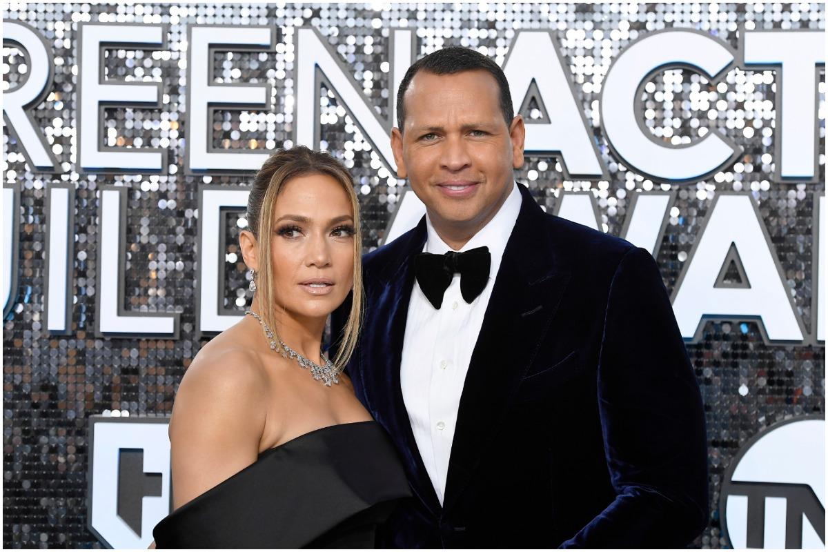 Jennifer Lopez and Alex Rodriguez attend SAG Awards.
