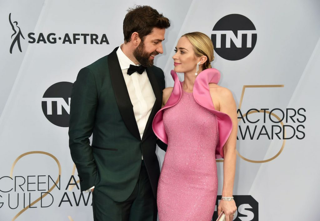 John Krasinski and Emily Blunt attend the Screen Actors Guild Awards in 2019. |