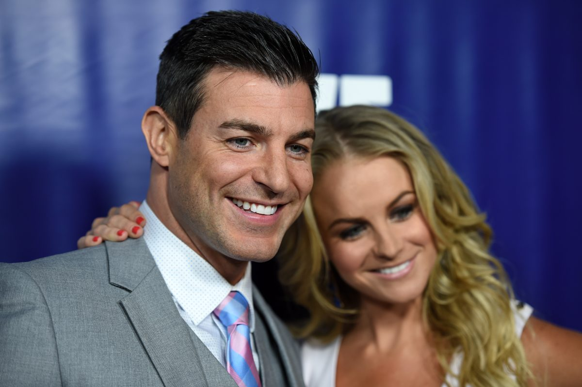 Television personalities Jeff Schroeder (L) and Jordan Lloyd arrive at the WE tv's 'Marriage Bootcamp Reality Stars'