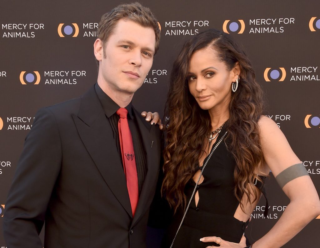 Joseph Morgan and Persia White at the Mercy For Animals 20th Anniversary Gala on Sept. 14, 2019 in Los Angeles