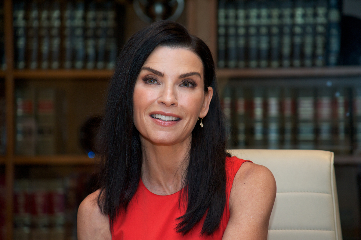 """Julianna Margulies at """"The Good Wife"""" Set Visit at on September 25, 2015 at Stages in Brooklyn, New York"""