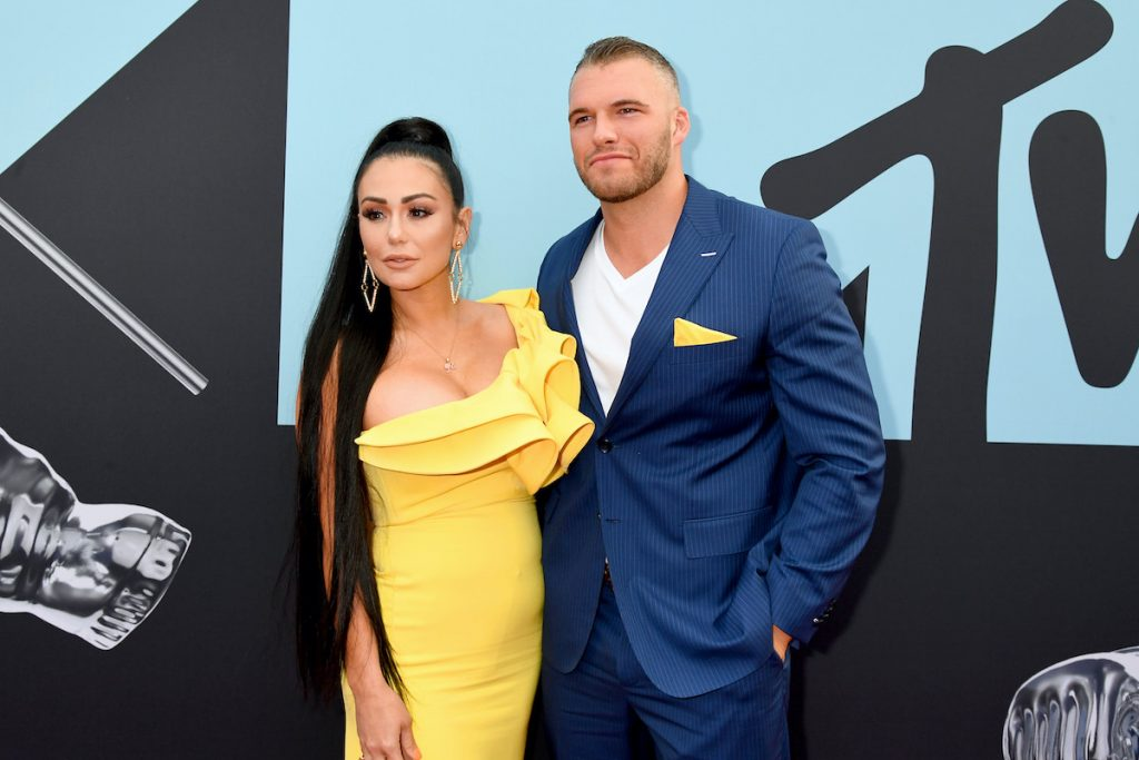 Jenni 'JWoww' Farley and Zack '24' Carpinello, who recently got engaged
