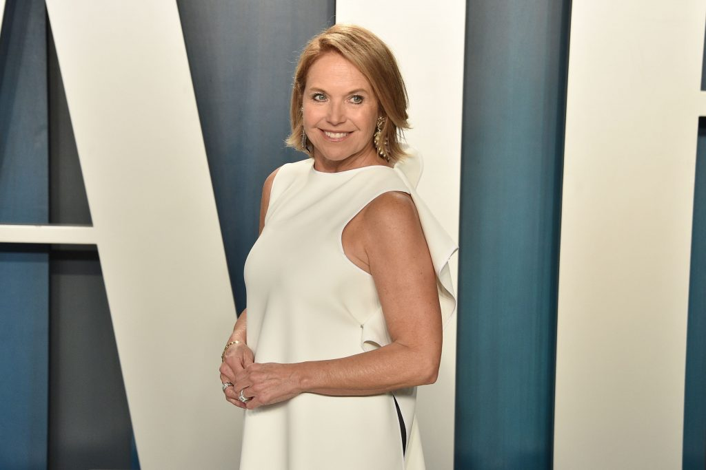 Katie Couric attends the 2020 Vanity Fair Oscar Party at Wallis Annenberg Center for the Performing Arts