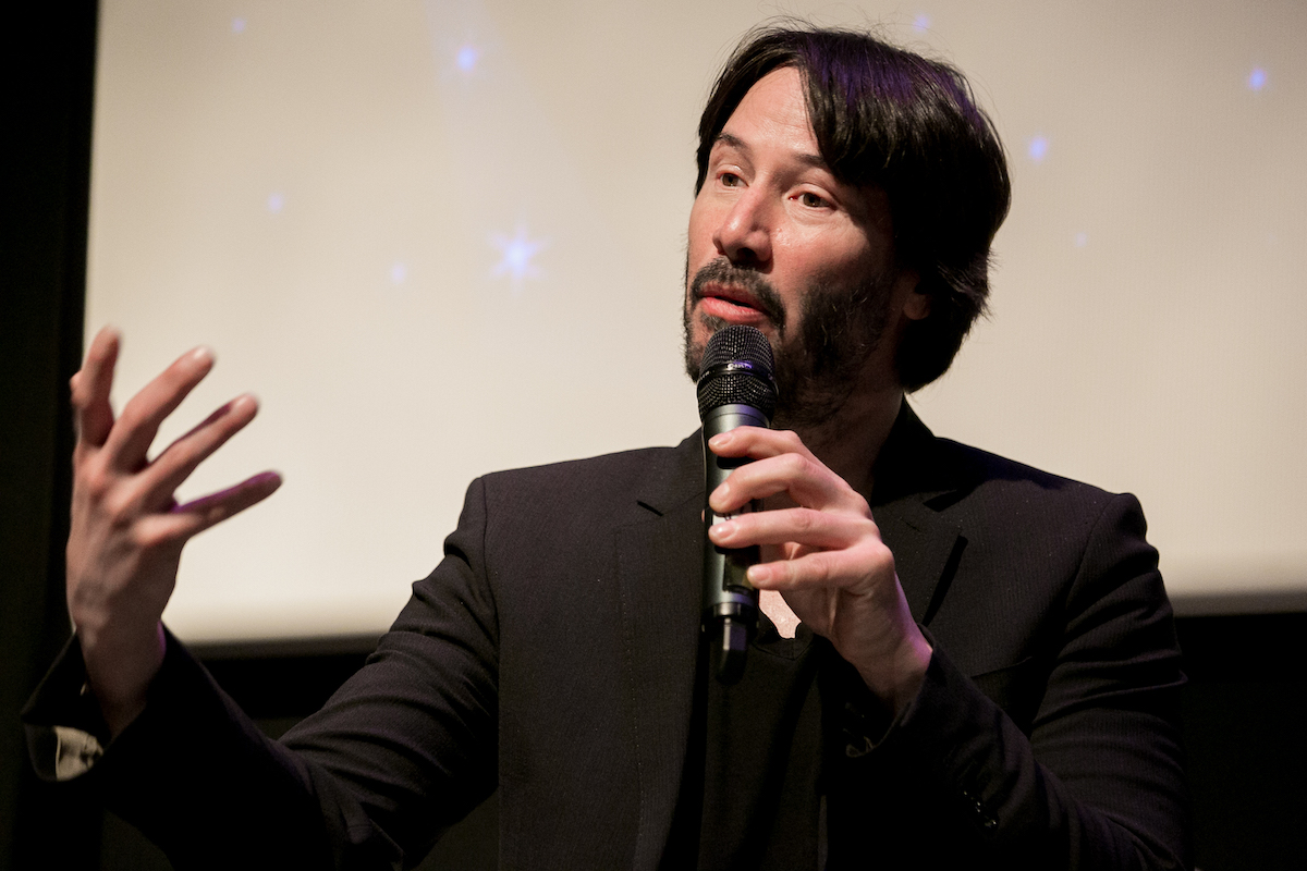 Keanu Reeves at a screening of 'Side by Side'