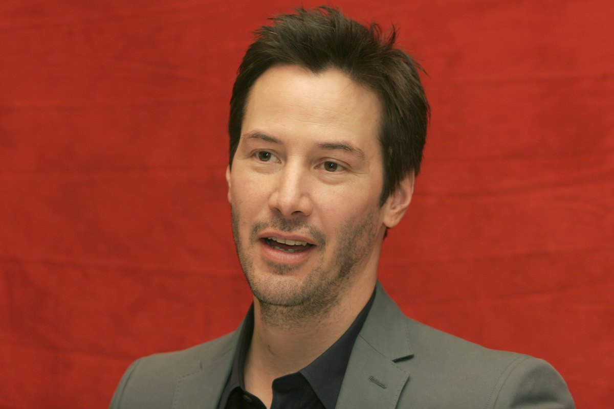 Keanu Reeves at the Four Seasons Hotel in Beverly Hills, California in 2008
