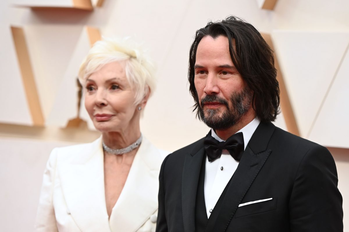 Keanu Reeves and his mother Patricia Taylor at the Oscars