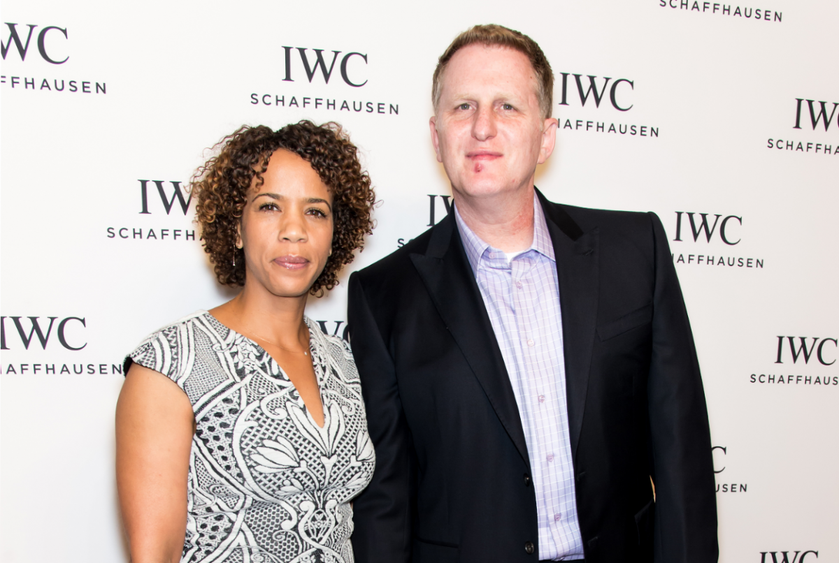 """Michael Rapaport (R) and Kebe Dunn attend the IWC Schaffhausen third annual """"For the Love of Cinema"""" dinner during Tribeca Film Festival"""
