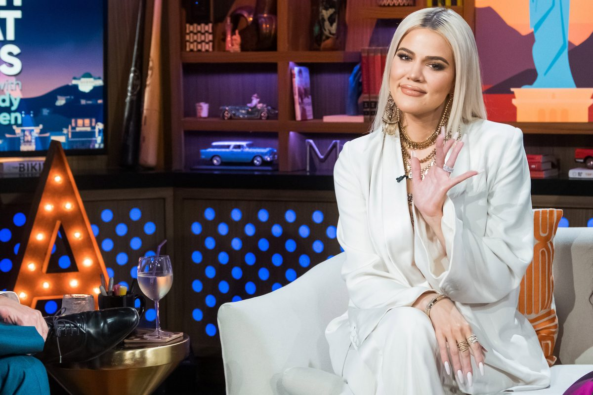 Khloé Kardashian appearing on an episode of Watch What Happens Live With Andy Cohen