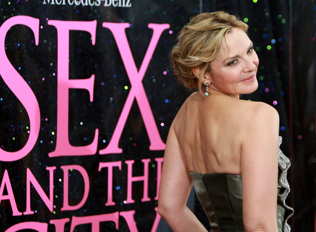 Kim Cattrall arrives at the premiere of 'Sex and the City: The Movie' at Radio City Music Hall in 2008