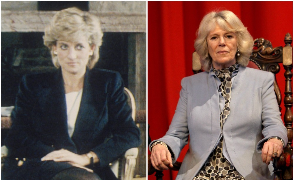 (L) Princess Diana , (R) Camilla Parker Bowles