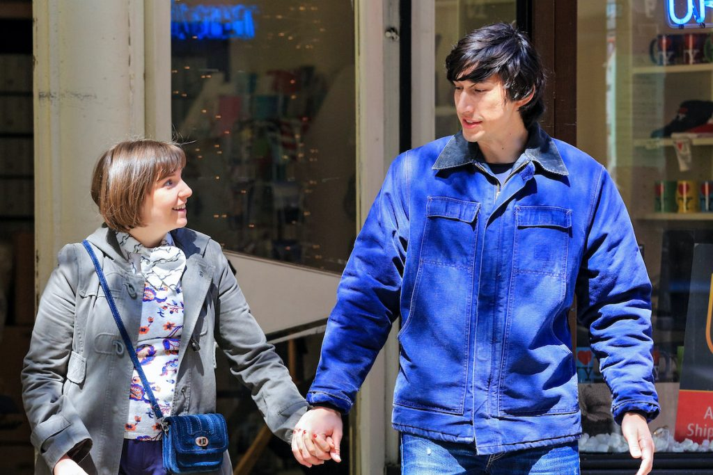 Lena Dunham and Adam Driver in the HBO series 'Girls'