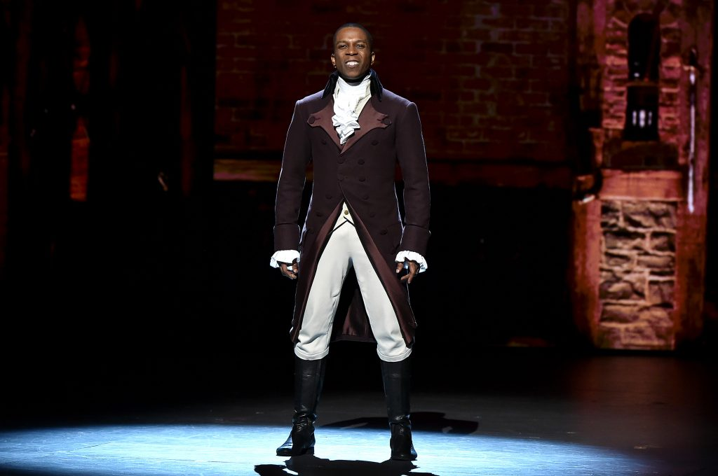 Leslie Odom Jr. onstage during the 70th Annual Tony Awards at The Beacon Theatre on June 12, 2016 in New York City