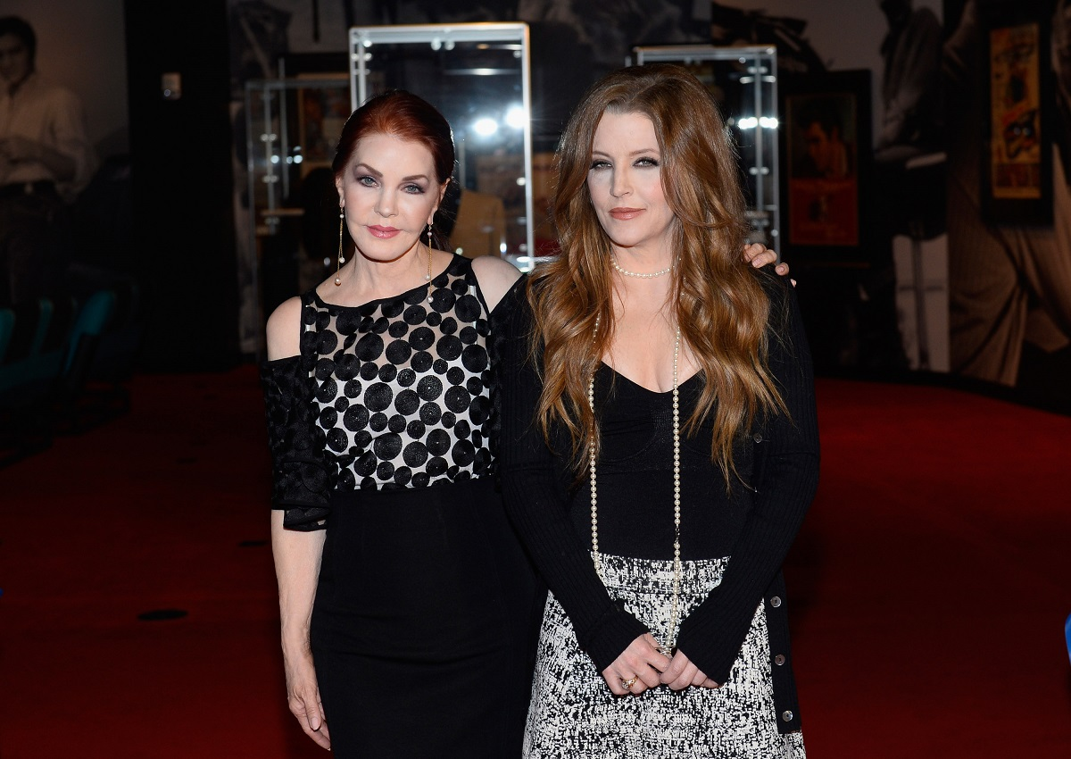 Priscilla and Lisa Marie Presley at the ribbon-cutting ceremony of 'Graceland Presents ELVIS' in Las Vegas in 2015