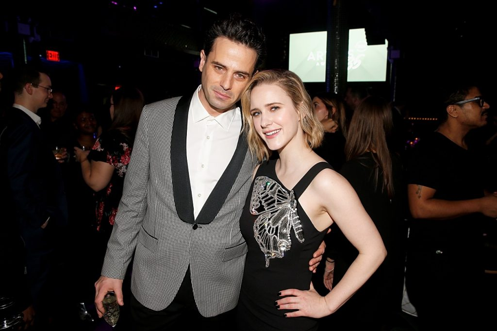 The Marvelous Mrs. Maisel cast members Luke Kirby and Rachel Brosnahan pose at eh Artios Awards