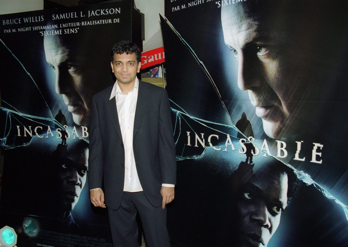 M. Night Shyamalan at the premiere of Unbreakable