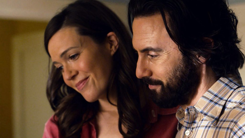 Screengrab of Mandy Moore as Rebecca Pearson and Milo Ventimiglia as Jack Pearson on 'This Is Us' Season 5 Episode 10, 'I've Got This'