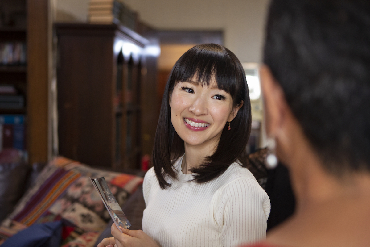 Photo of smiling Marie Kondo