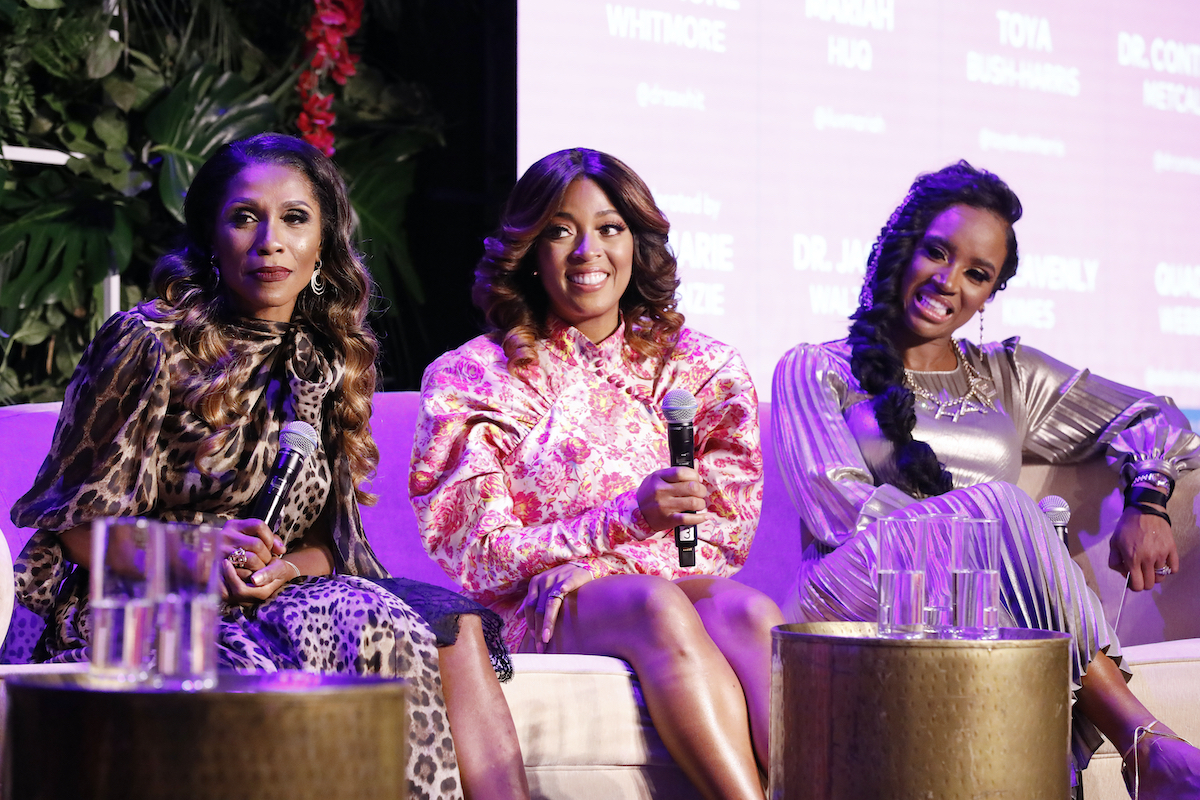 Dr. Jackie Walters, Toya Bush-Harris, Dr. Contessa Metcalfe at a panel at BravoCon in 2019