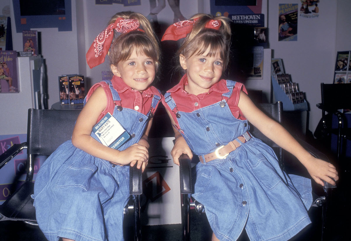 Mary-Kate and Ashley Olsen attend the 12th Annual Video Software Dealers Association (VSDA) Convention and Expo
