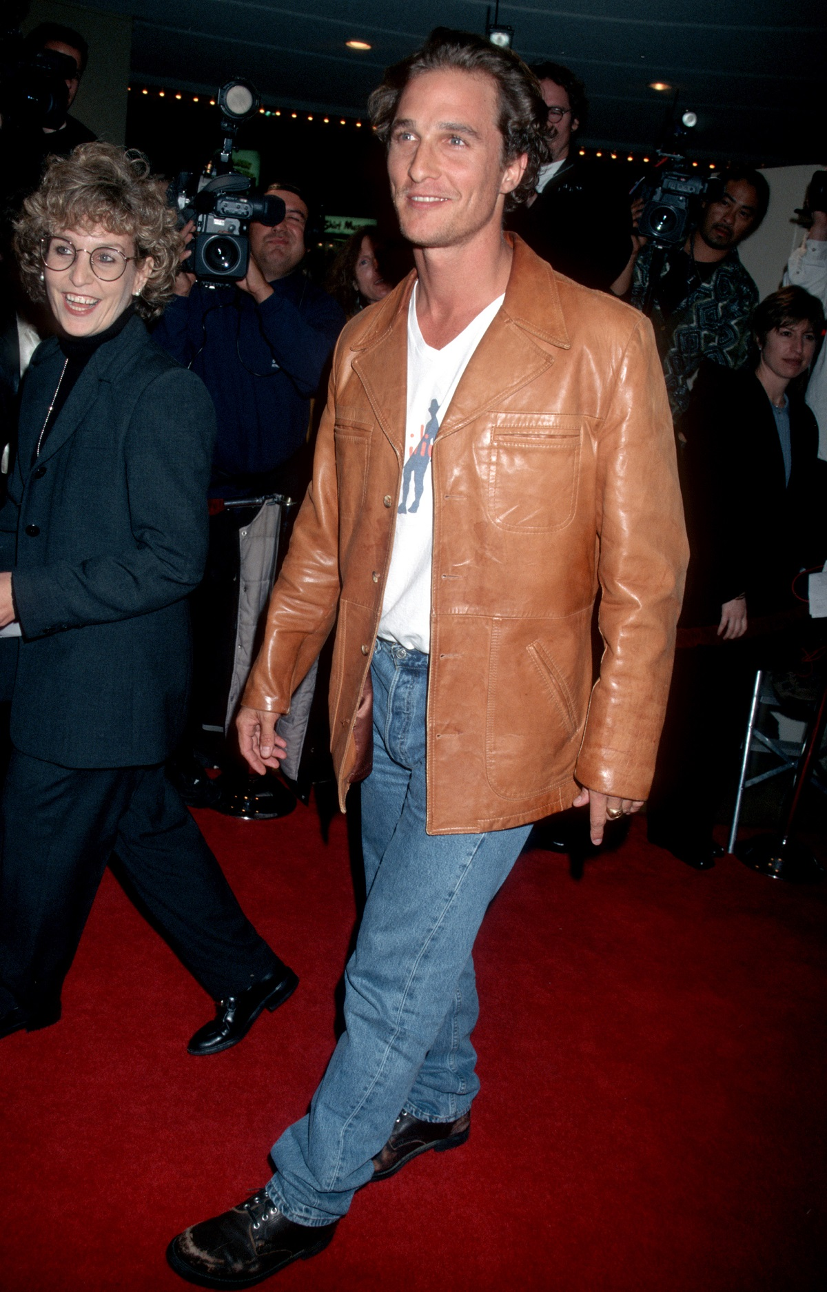 Matthew McConaughey on the red carpet for 'Good Will Hunting'