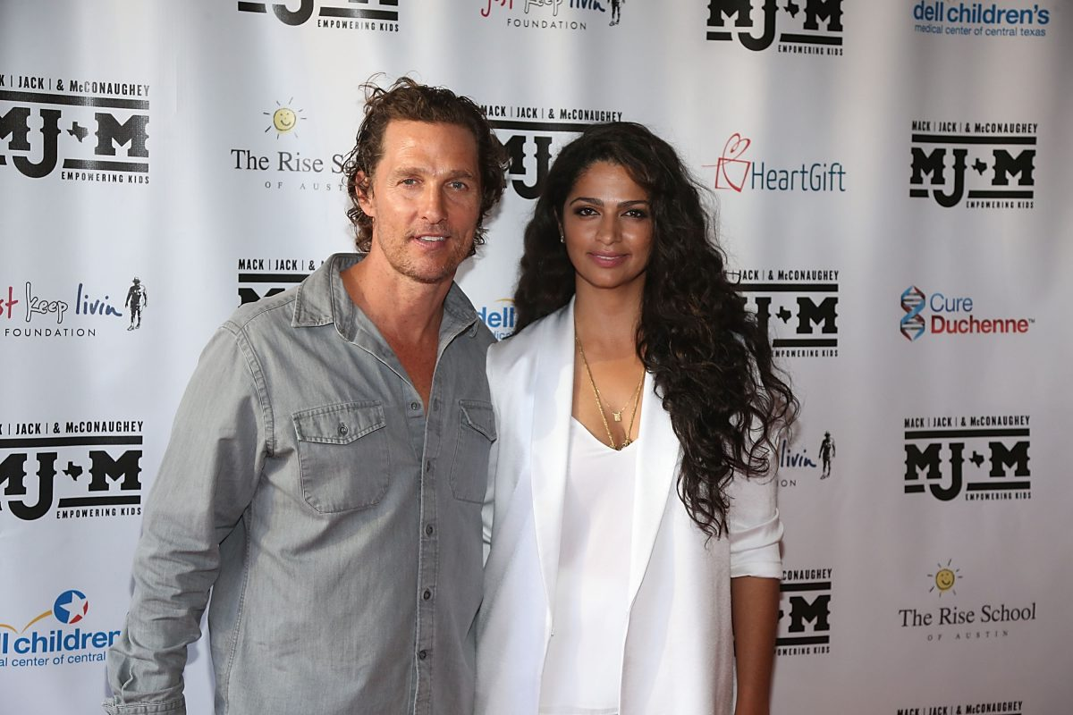 Matthew McConaughey and Camila Alves together at ACL Live