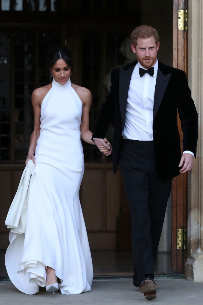 Prince Harry and Meghan Markle on their wedding day in May 2018