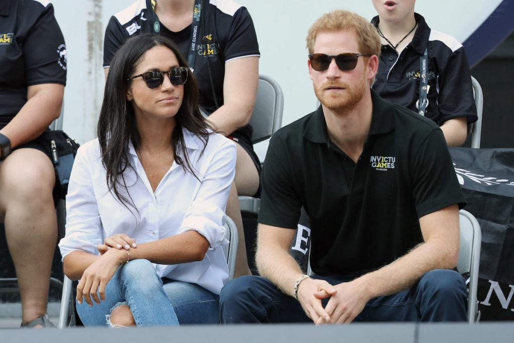 Meghan Markle and Prince Harry during the Invictus Games 2017