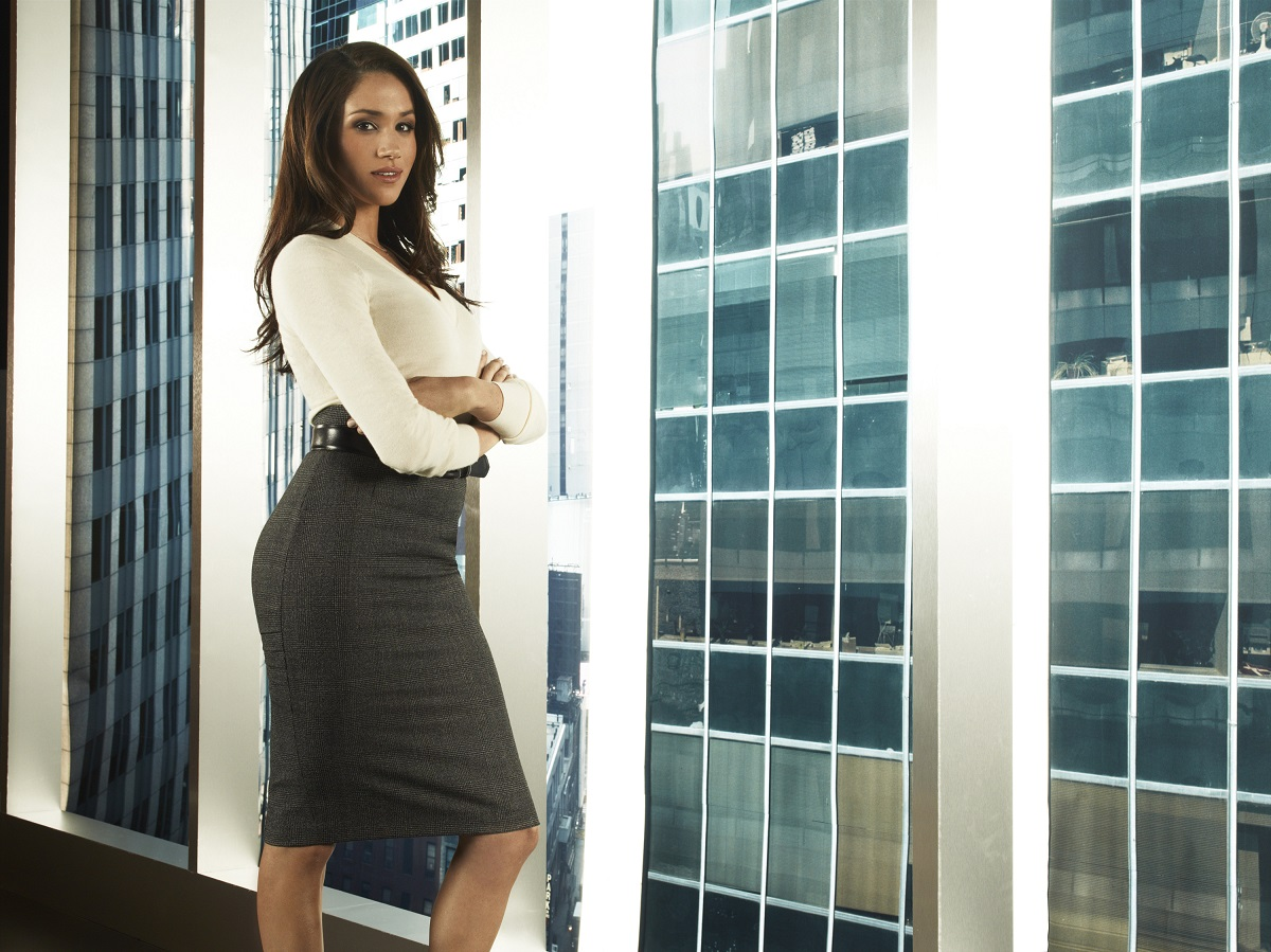Meghan, Duchess of Sussex, as Rachel Zane in a promotional still for the first season of 'Suits'