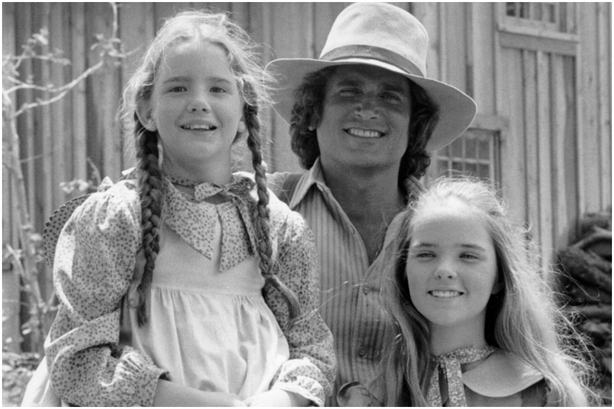 Melissa Gilbert, Melissa Sue Anderson, and Michael Landon on the set of 'Little House on the Prairie'