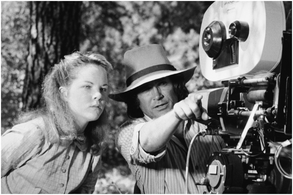 Melissa Sue Anderson and Michael Landon on the set of 'Little House on the Prairie'