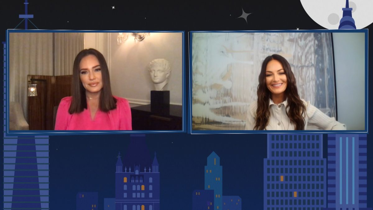 'Watch What Happens Live with Andy Cohen' -- Episode 17200 -- Pictured in this screen grab: (l-r) Meredith Marks, Lisa Barlow