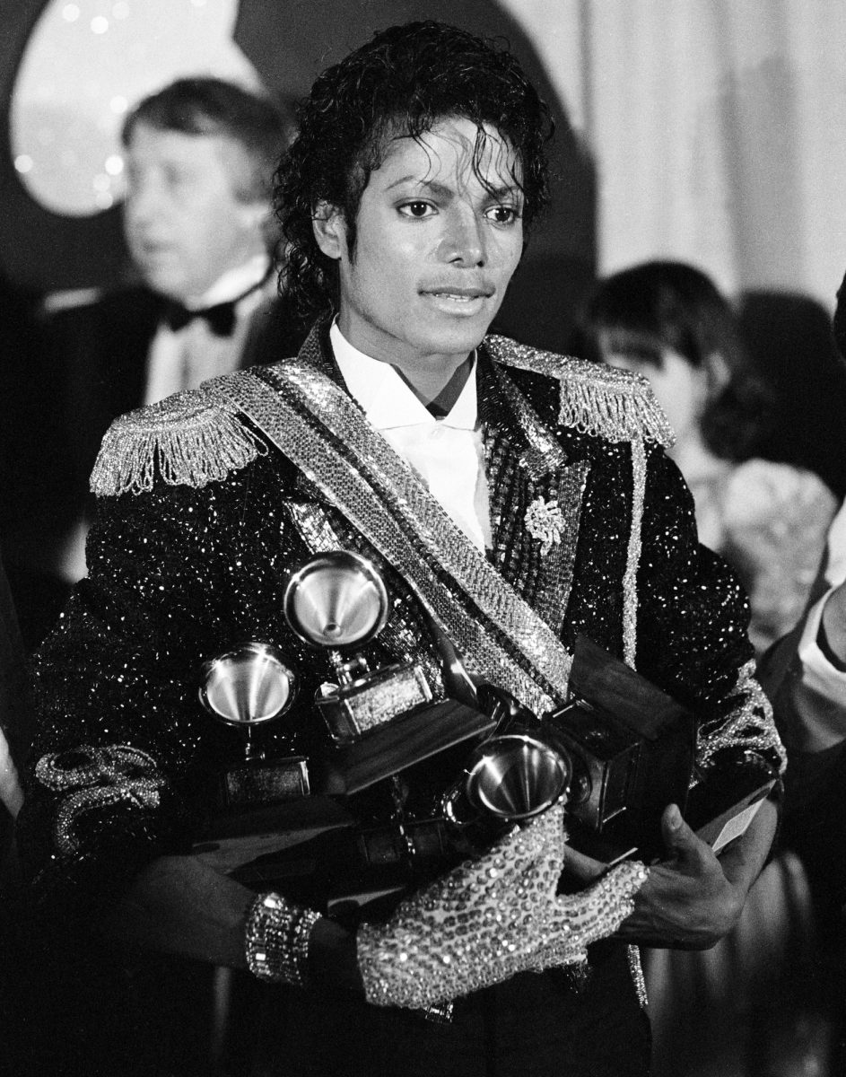 Michael Jackson at the 26th Annual Grammy Awards