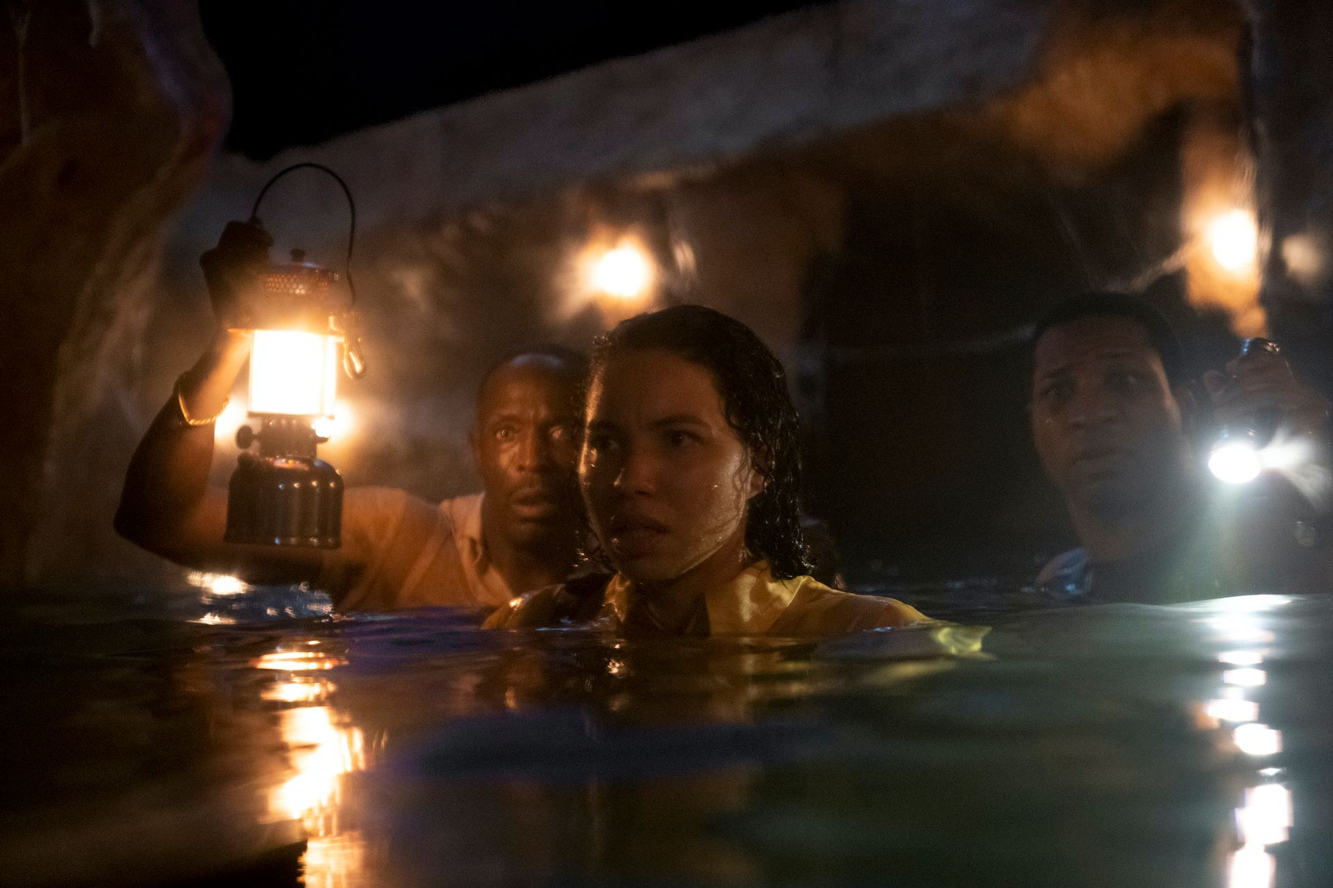 Michael K. Williams, Jurnee Smollet, and Jonathan Majors in 'Lovecraft Country'