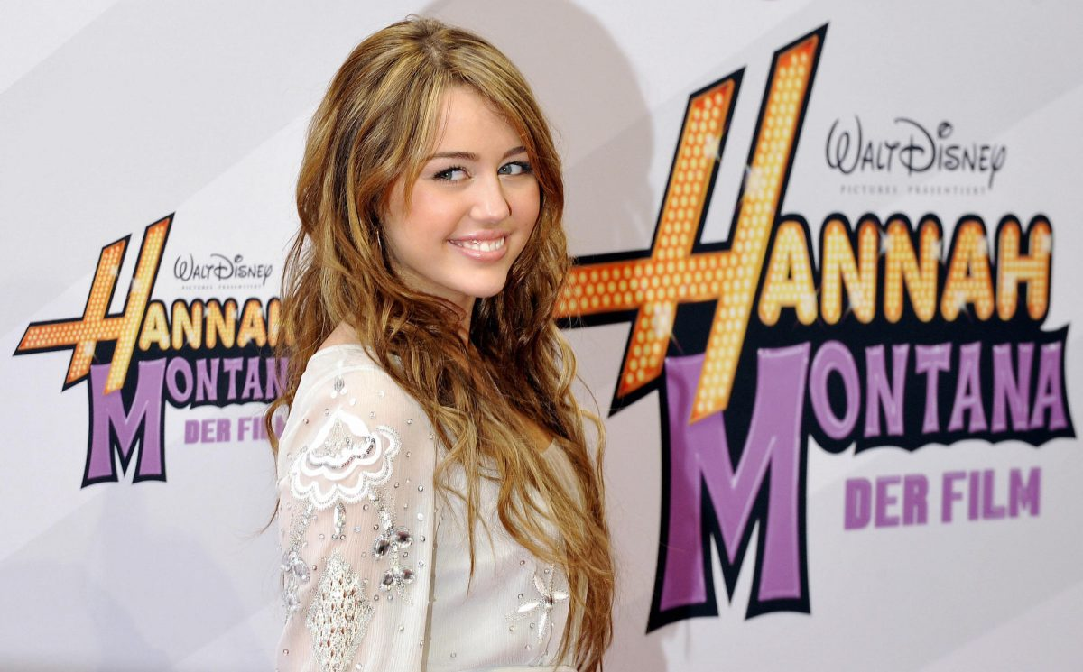 Miley Cyrus at the Germany premiere of 'Hannah Montana The Movie""