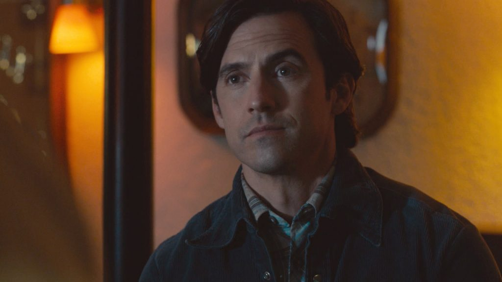 Milo Ventimiglia as young Jack Pearson looking up at someone in 'This Is Us' Season 5 Episode 11